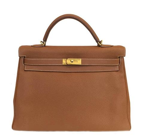 shopping bag handle hermès 40 gold clemence leather ghw baghunter