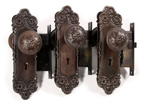 antique door hardware three complete antique door hardware sets monaco by
