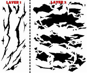 Winter camouflage airbrush stencil air brush template for Camo paint template