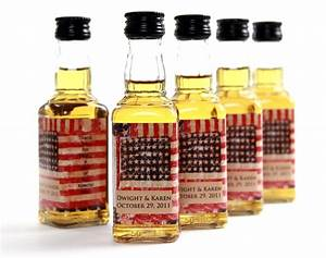 custom wedding favor american flag mini liquor bottle labels With wedding favor mini liquor bottles