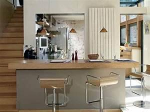 Aide modele cuisine americaine avec bar for Idee deco cuisine avec modele cuisine americaine