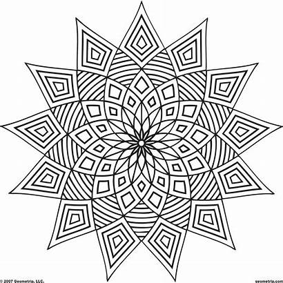 Kaleidoscope Coloring Pages Printable Adults Patterns Getcolorings