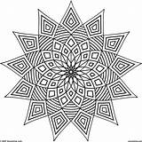 Kaleidoscope Coloring Pages Printable Adults Patterns Print Getcolorings sketch template