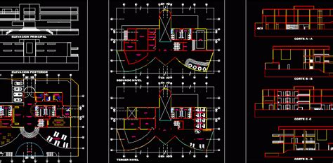 modern spa  dwg design full project  autocad