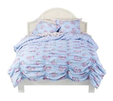 simply shabby chic ruched comforter set simply shabby chic cabbage rose ruched full queen duvet set new in package bedding