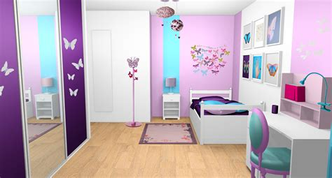 décoration chambre fille violet