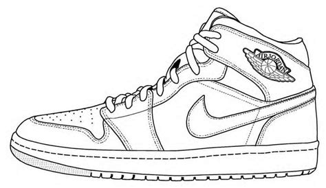 Coloring Nike Air 1 by Image Result For Shoe Template Ribbon Week