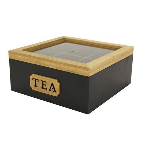 Tea Box?Tea Bag Storage Box Container?6 Compartments