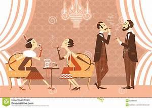 Vector Vintage Party Stock Vector - Image: 52289589