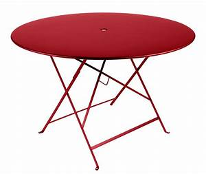 bistro foldable table o 117 cm 6 8 people umbrella With table basse largeur 40 cm