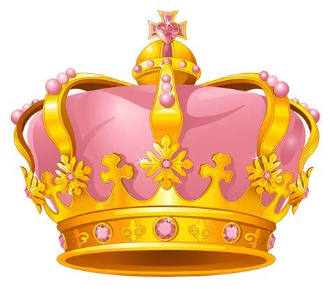 Golden Pink Crown PNG Clipart | Gallery Yopriceville ...