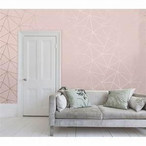 **Sample** Zara Shimmer Metallic Wallpaper Soft Pink, Rose