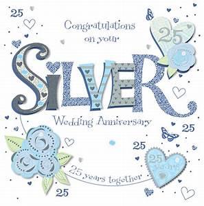 handmade silver 25th wedding anniversary greeting card With images of 25th wedding anniversary cards