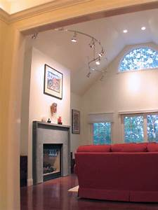 Track lighting for vaulted ceilings working