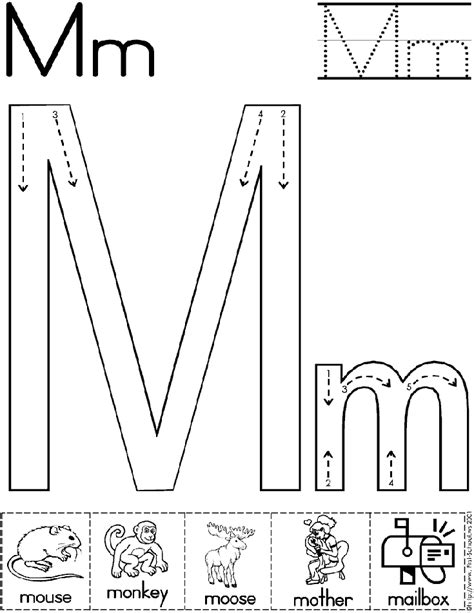 block letter m alphabet letter m worksheet standard block font 29509