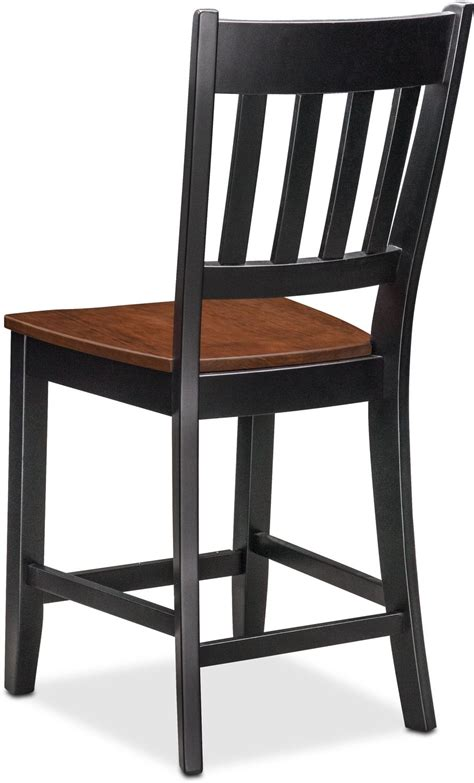 nantucket counter height slat back chair black and