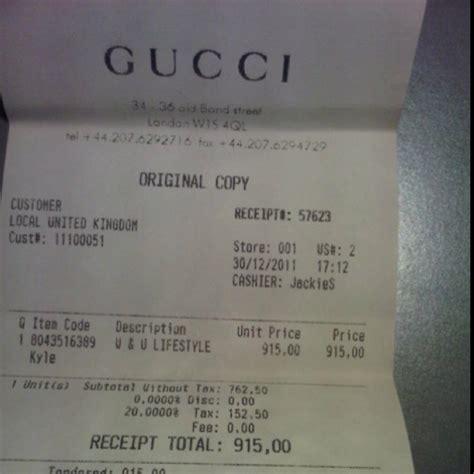 gucci receipt brand whore personalized items