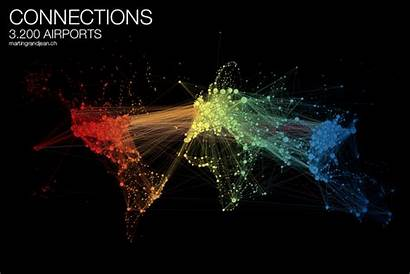 Network Traffic Air Map Animated Connections Maps