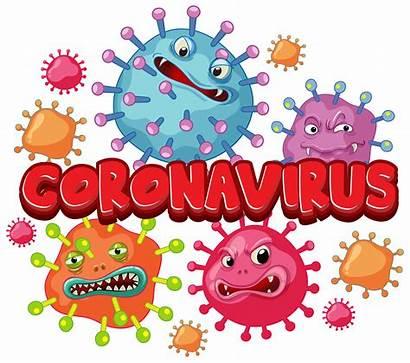 Virus Coronavirus Word Poster Vector Cells Clipart