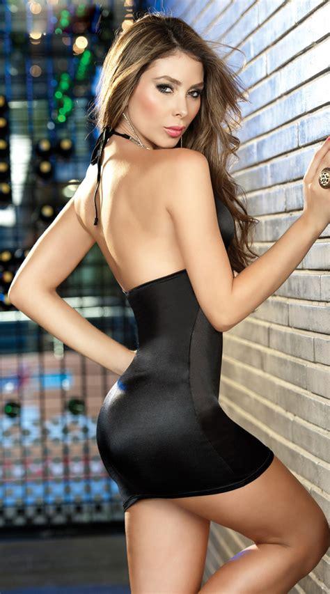 Sexy Black Dress N4641