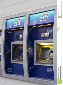 Citibank Atm With Logo At Branch Bank Editorial Stock