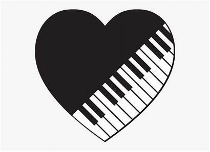 Symbol Piano Keyboard Heart Musician Logos Clipart
