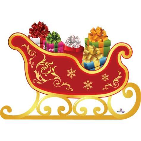 Santa Sleigh Cardboard Cutout