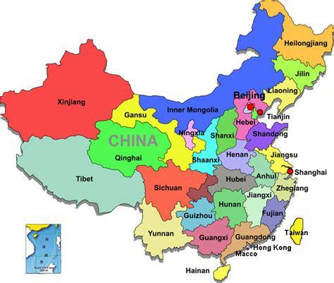 china provincial map map  china provinces china maps