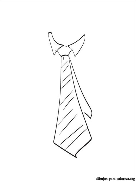 corbata dibujo  colorear dibujos  colorear