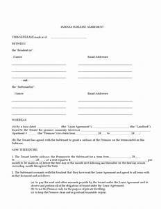 indiana sublease agreement legalformsorg With subletting lease agreement template