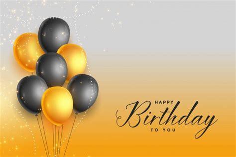 happy birthday gold  black celebration