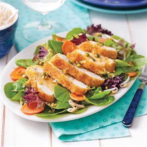 cuisine santé recettes salade de poulet coco panko recettes cuisine et