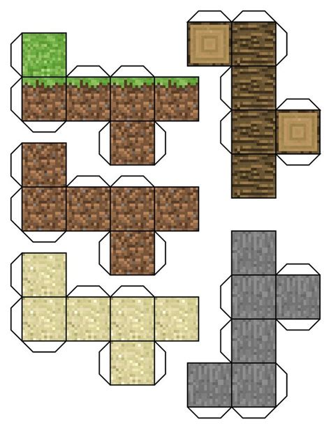 minecraft papercraft mini blocks projects