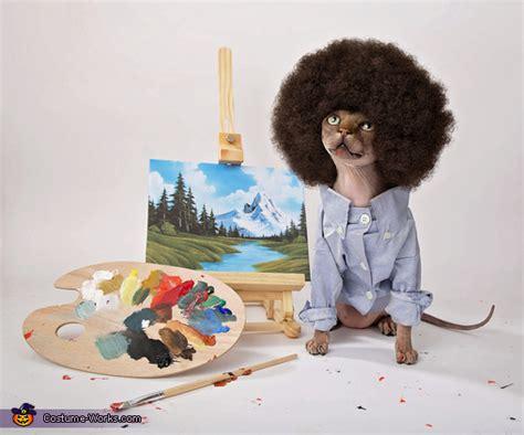 Bob Ross Painting Happy Little Trees Cat Costume