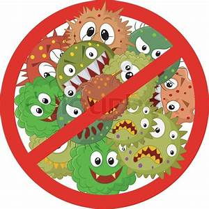 Vector Illustration Of Stop Virus Cartoon