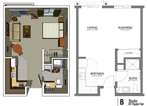 in apartment floor plans the studio apartment floor plans above is used allow the