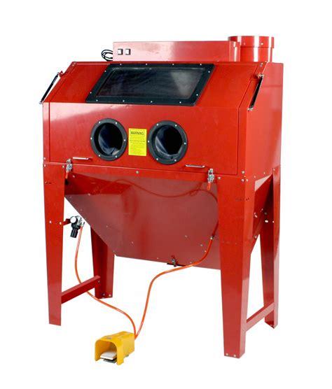 sandblast cabinet parts dragway tools steel brass constructed 110 gallon sandblast