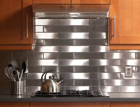 stainless steel kitchen backsplash tiles 4 benefits of metal tile backsplash 8240