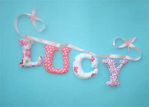 personalized name banner fabric letters girls room decor With custom letter banner