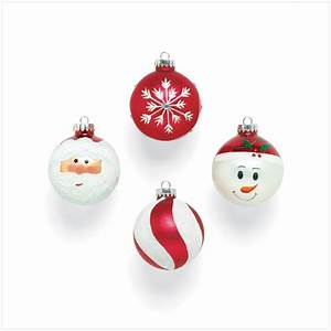 9 Santa Ball Ornaments