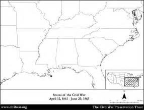 Blank Map United States Civil War