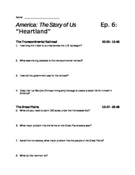 america the story of us episode 6 quot heartland quot viewing guide tpt