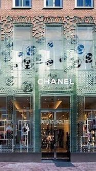 Incredible glass brick facade for Chanel in Amsterdam - a ...