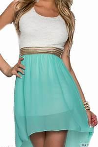 Kleider In Türkis : 4370 fashion4young damen kleid aus chiffon vokuhila styl minikleid dress verf gbar in 5 farben ~ Watch28wear.com Haus und Dekorationen