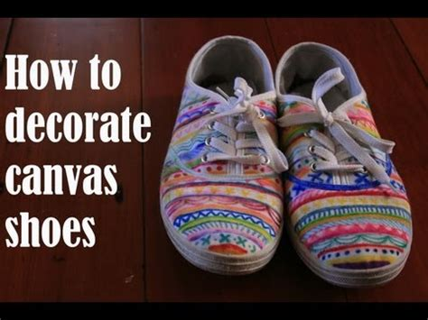 How To Decorate Canvas Shoes Youtube
