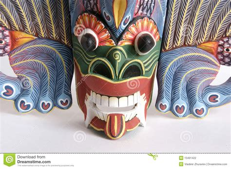 indonesian balinese mask souvenir   tree stock