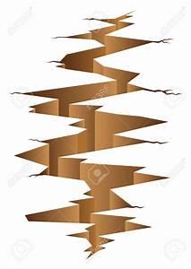 Earthquake crack clipart collection