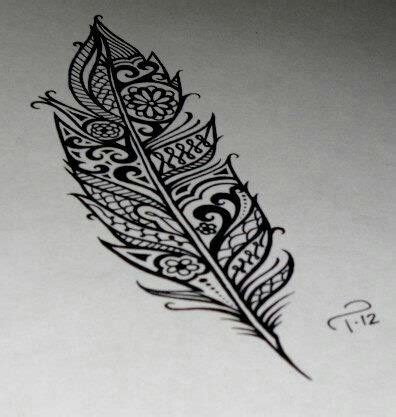 plume arabesque feather tatoo design plume tattoos