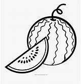 Watermelon Coloring Line Clipartkey sketch template