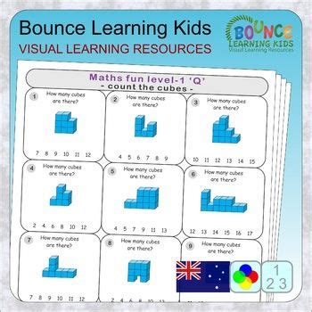 math fun level  au  distance learning worksheets